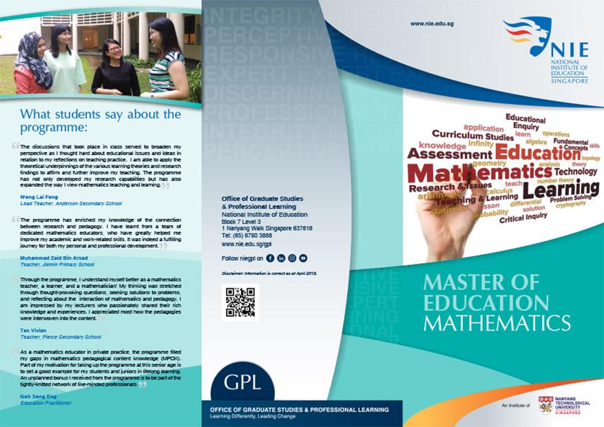 Master of Education (Mathematics)