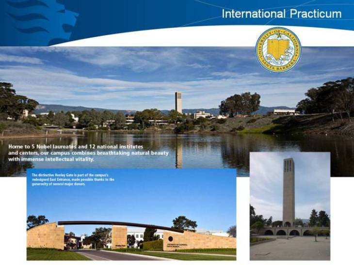 INTERNATIONAL PRACTICUM OPPORTUNITIES AT UCSB (for Year 2 BA/BSc(Ed) student teachers only)