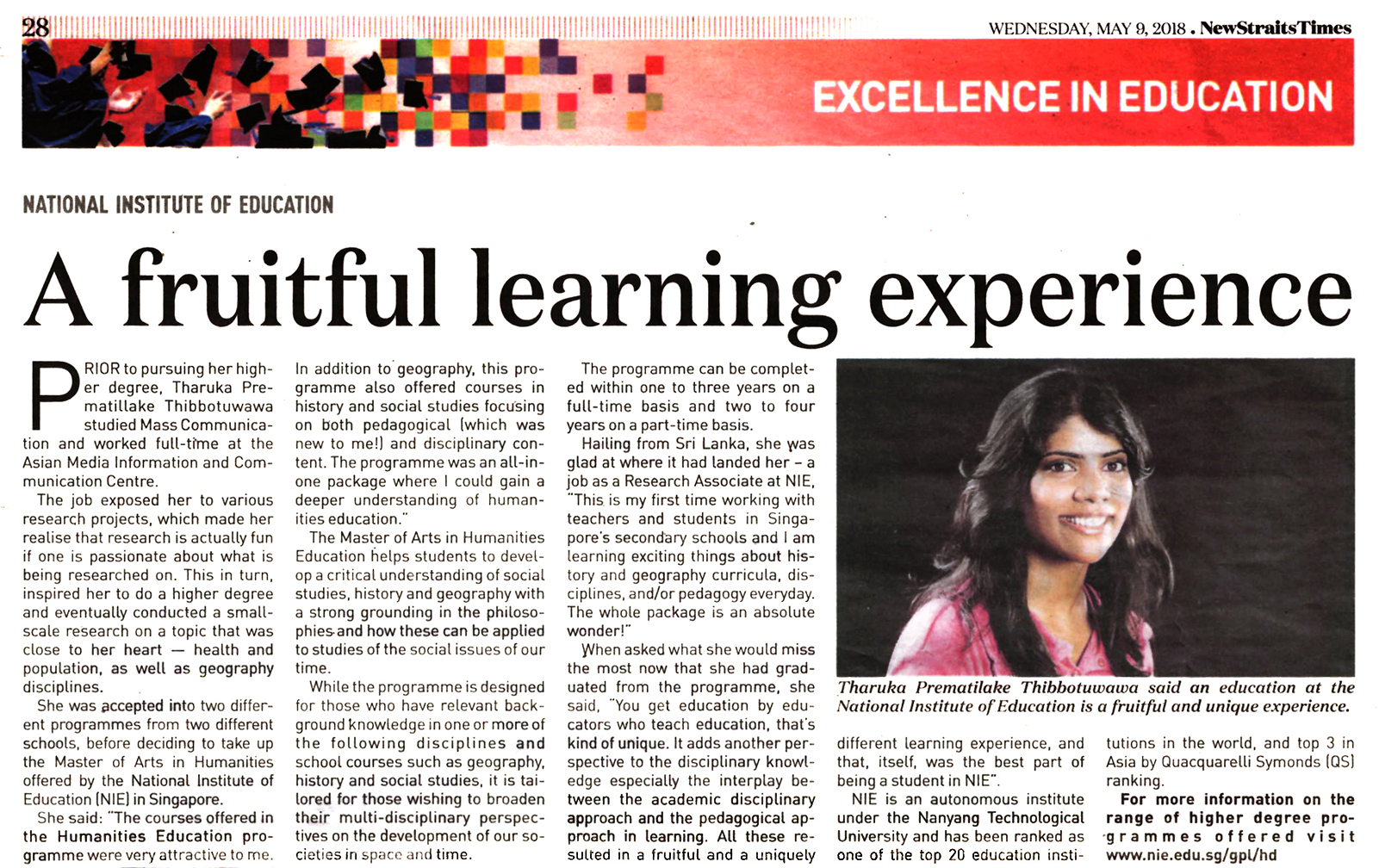 A fruitful learning experience