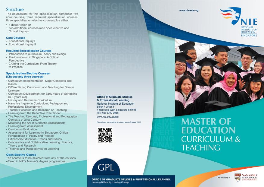 education pamphlet design