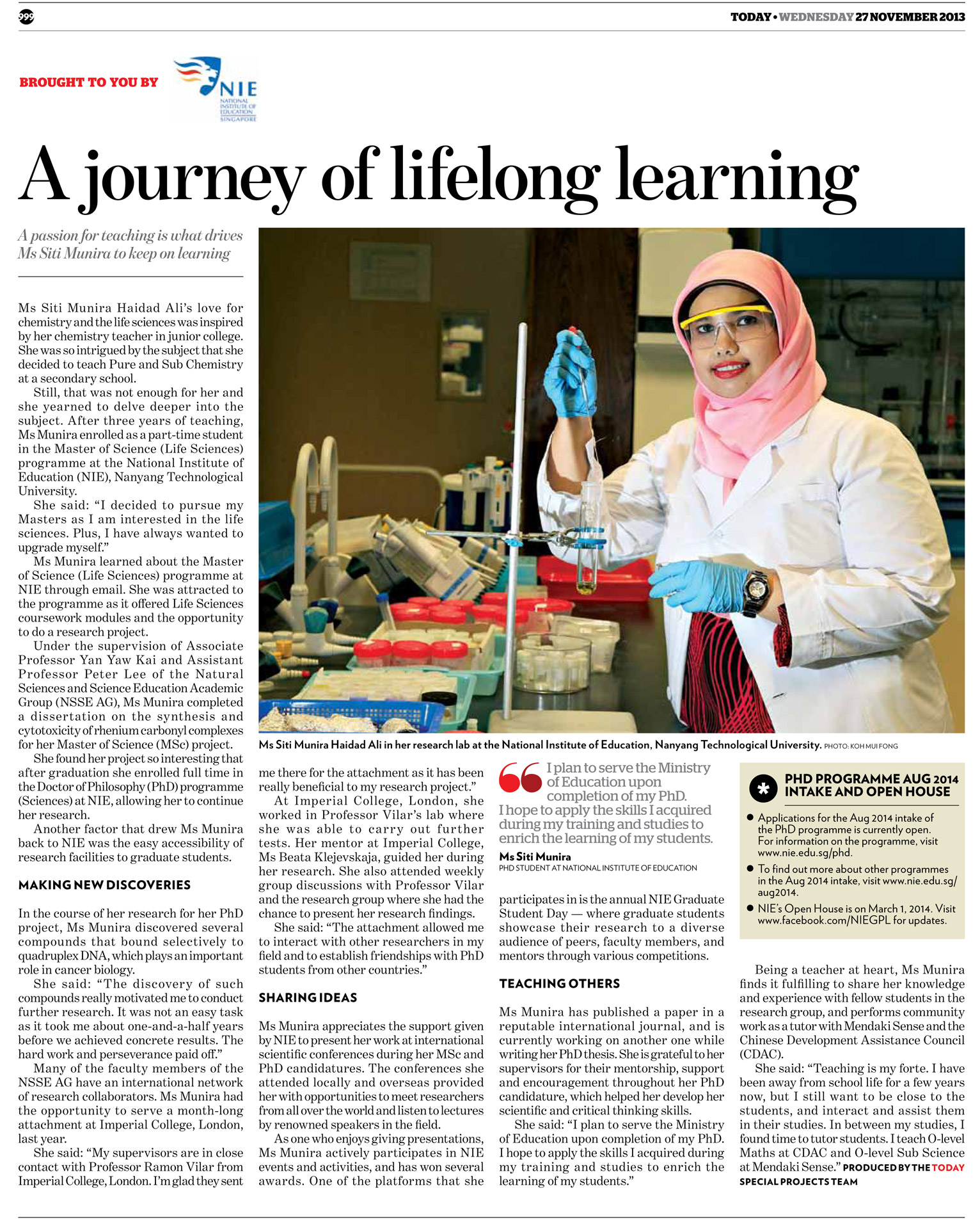 A Journey of Lifelong Learning