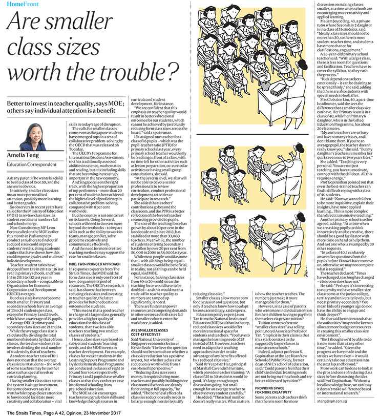 ST_23 Nov 2017_Pg A42_Op-Ed_Are Smaller Class Sizes (740px)