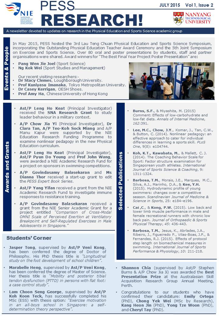 PESS newsletter 2015 July_vol 1 iss 2